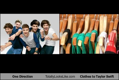One Direction Totally Looks Like Clothes to Taylor Swift