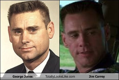 george jones,totally looks like,funny,jim carrey