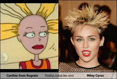 cynthia,totally looks like,miley cyrus,rugrats,funny,MTV VMAs