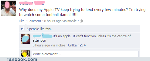 apple tv football apple funny