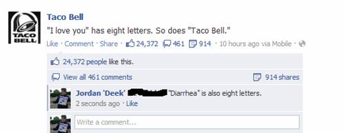 diarrhea taco bell