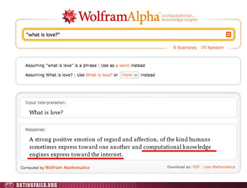 wolfram alpha internet true love funny - 7437523456
