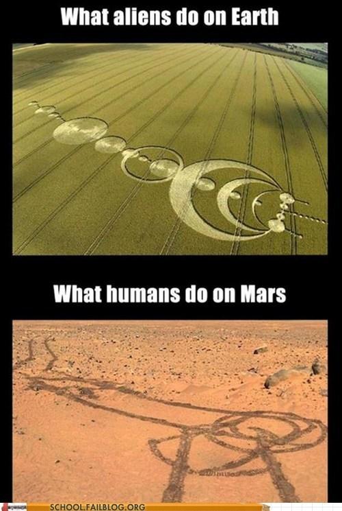 Aliens,genitals,Mars,funny