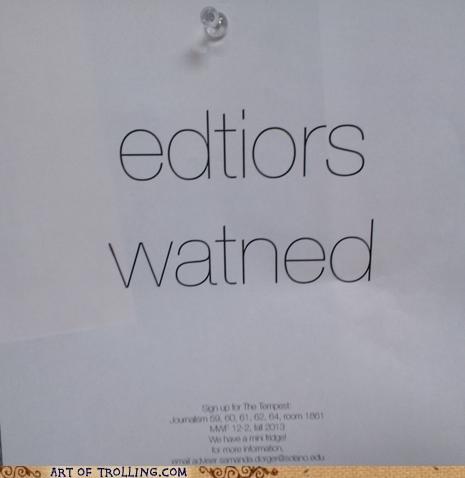 copy editors editors wanted funny job application - 7438212608