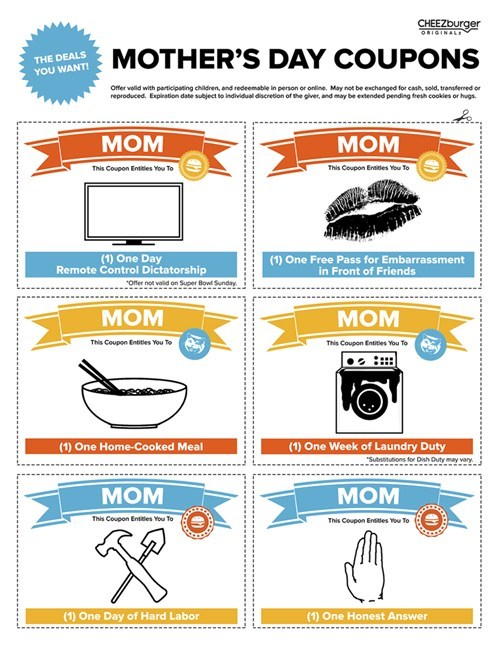 gift idea cheezburger original coupons mothers day free