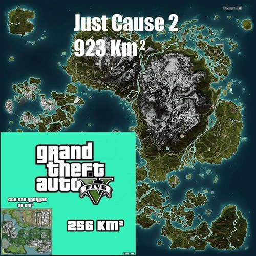 grand theft auto v,video games,Maps,just cause 2,funny