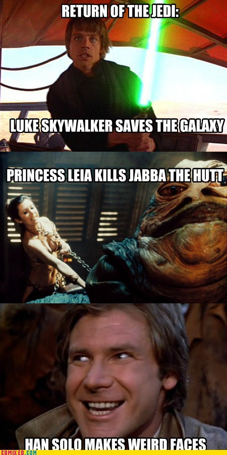 star wars,return of the jedi,Han Solo,funny
