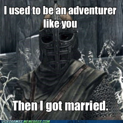 Memes arrow to the knee Skyrim funny - 7439605248