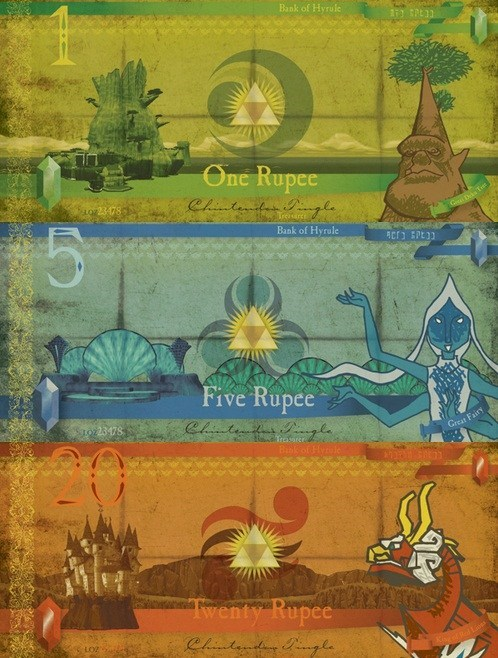 bank notes art zelda funny