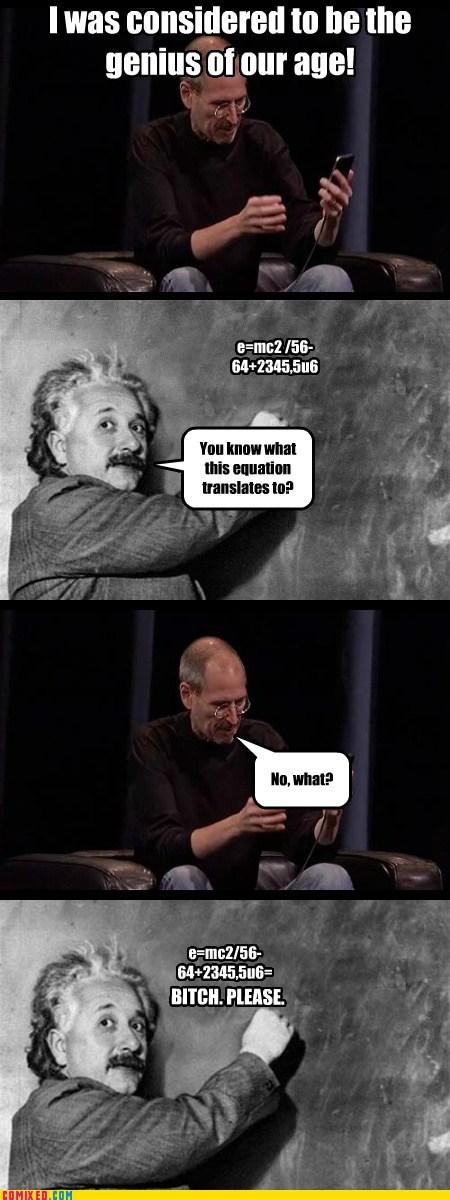 geniuses rip steve jobs albert einstein funny - 7439645952