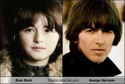 beatles,Game of Thrones,totally looks like,bran stark,funny,george harrison