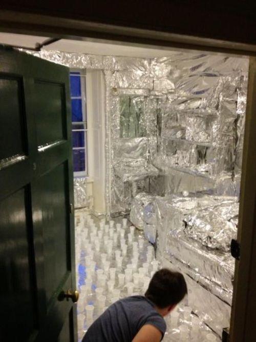foiled foil prank water cup prank tin foil funny - 7440130304