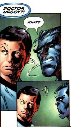 beast McCoy off the page x men Star Trek funny - 7440144896