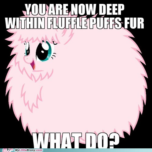 fluffle puff fur choices funny