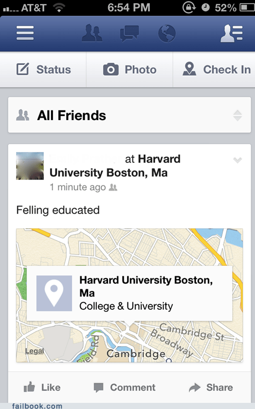 google maps educated funny harvard