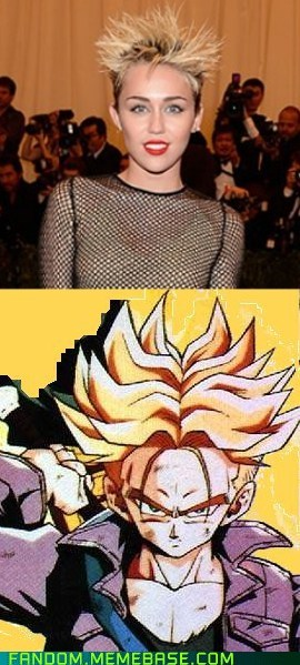 Dragon Ball Z,totally looks like,miley cyrus,funny