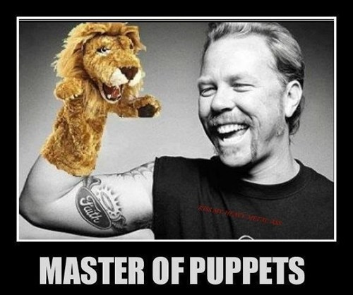 Music Master of Puppets metallica puppets funny - 7442736640