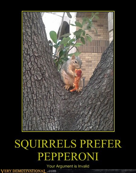 fact pizza squirrels peperoni funny