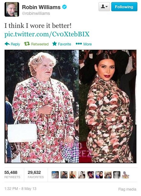 kim kardashian robin williams pregnant funny fashion social media celeb poorly dressed g rated - 7443002880