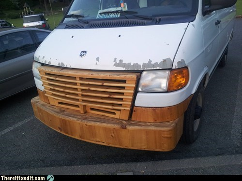car,wood,grill,win,g rated,there I fixed it
