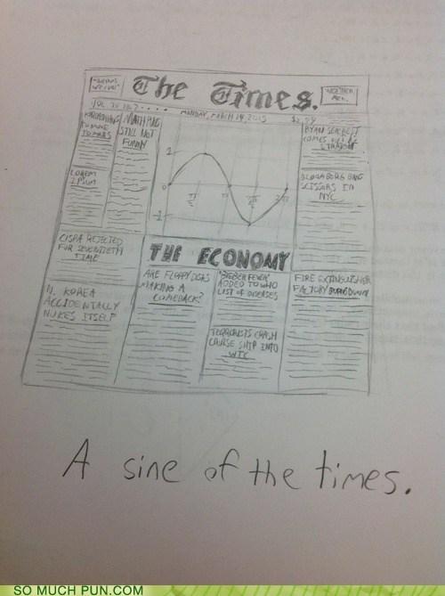 sine puns funny newspaper - 7443038976