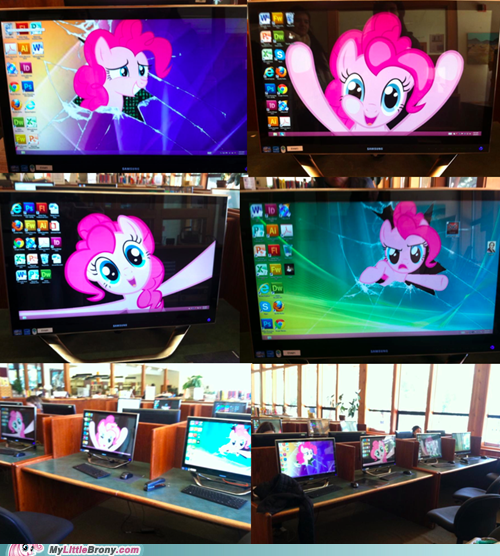 ponies,computers,IRL,pinkie pie,pranks