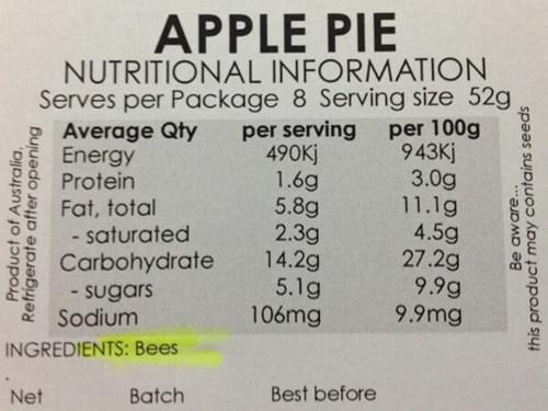australia bees funny apple pie - 7443245056