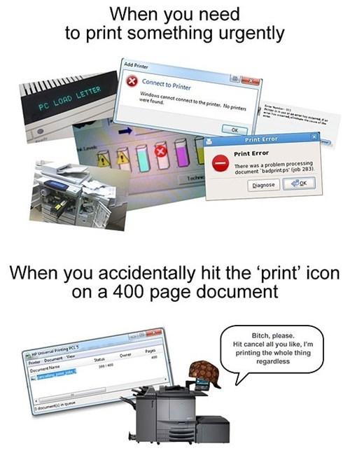 printing scumbag printer printer error funny printer - 7443262464