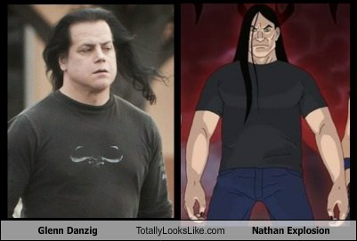 glenn danzig,nathan explosion,totally looks like,funny