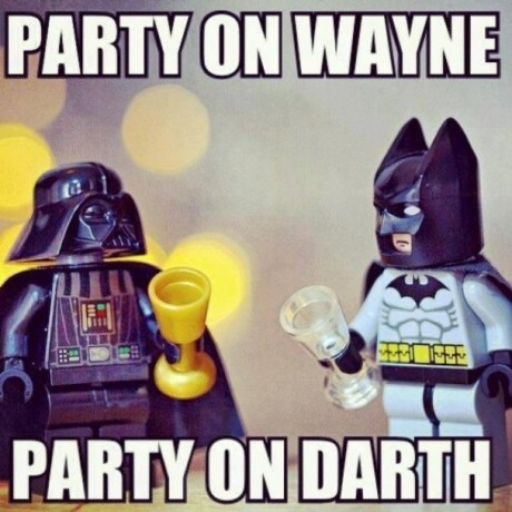 legos,waynes world,batman,funny,darth vader