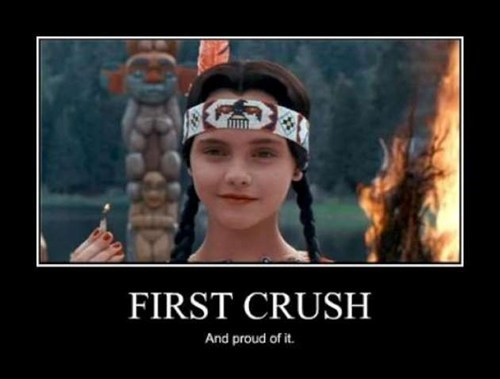 first crush wednesday addams funny - 7443586560