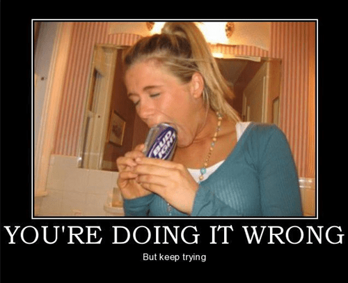 drink beer wtf doing it wrong funny - 7443619584