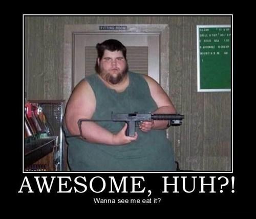 fat jokes gun food funny - 7443699712