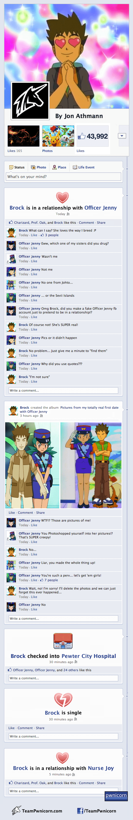 brock,Pokémon,facebook,officer jenny,funny