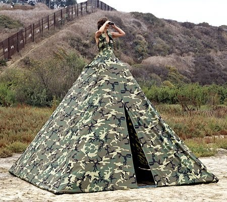 tent camouflage dress classic funny