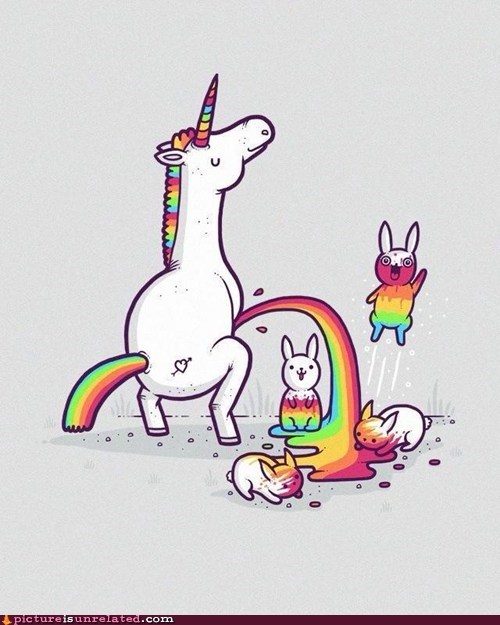 unicorn,pee,funny,rainbow