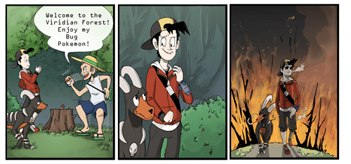 bug types comics funny viridian forest