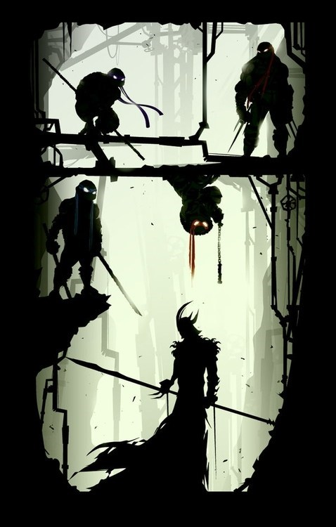 art TMNT awesome shadows funny
