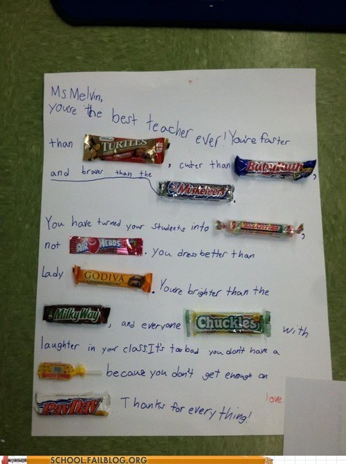 candy teacher appreciation sentences awesome funny - 7445398016
