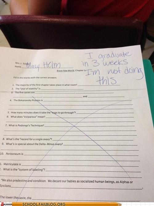 graduate test idiots funny - 7445606912