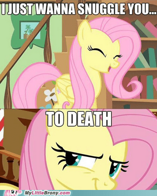snuggles my little pony fluttershy funny - 7445627904