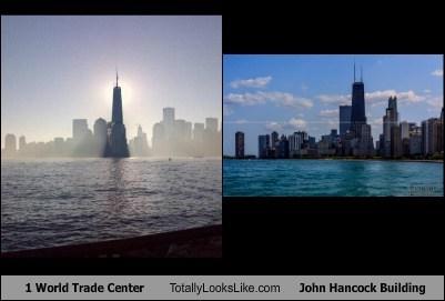 1 World Trade Center Totally Looks Like John Hancock Building