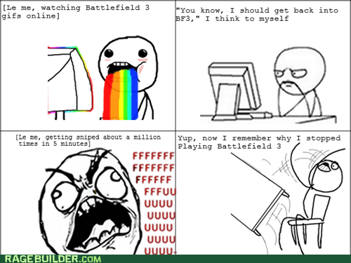 Battlefield 3,rainbow guy,funny