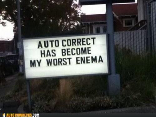 signs enemies enemas spelling funny AutocoWrecks - 7446167552