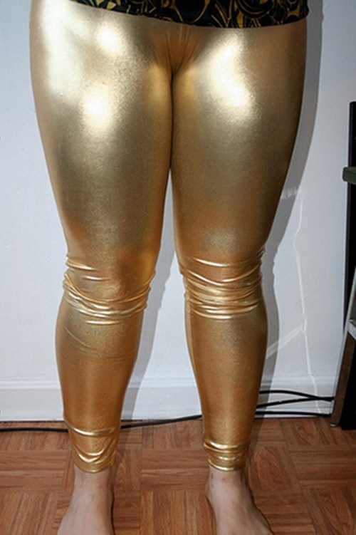 pants gold leggings funny - 7446388480