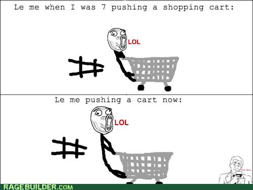 me gusta,shopping cart,lol guy