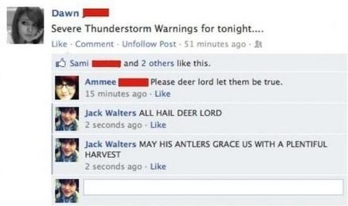 dear lord,deer in the headlights,thunderstorms,deer,deer lord,funny,failbook,g rated