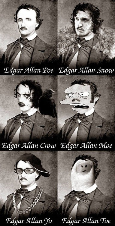 Edgar Allan Poe,Game of Thrones,puns,funny
