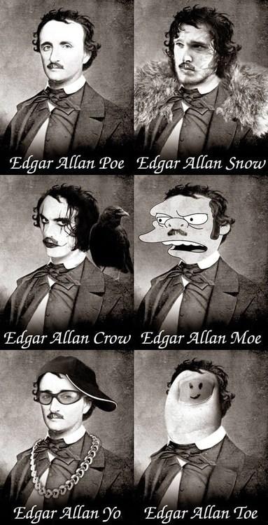 Edgar Allan Poe Game of Thrones puns funny - 7446504960