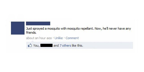 forever alone,mosquito repellant,mosquitoes